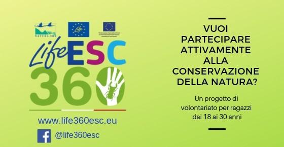Progetto Life ESC360 - Volontariato europeo per 360 volontari fra 18 e 30 anni